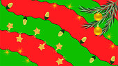 Christmas and New Year background in resolution 16:9 with red and green painted splashes