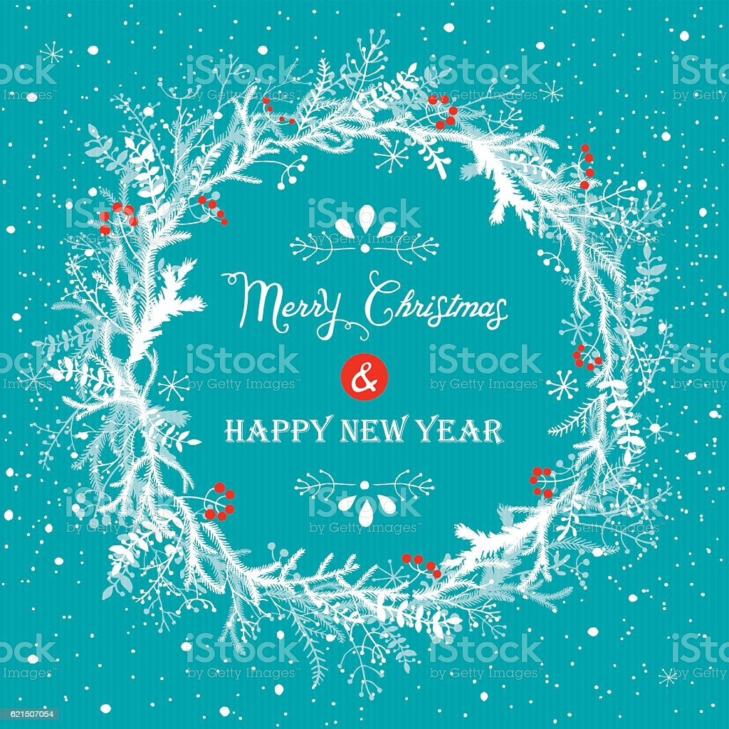 Christmas And New Year Background christmas and new year background - immagini vettoriali stock e altre immagini di bianco royalty-free