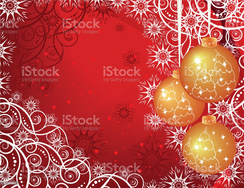 Christmas and New Year background royalty-free stock vector art