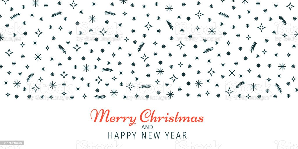 Christmas And New Year Banner Wallpaper Background Header