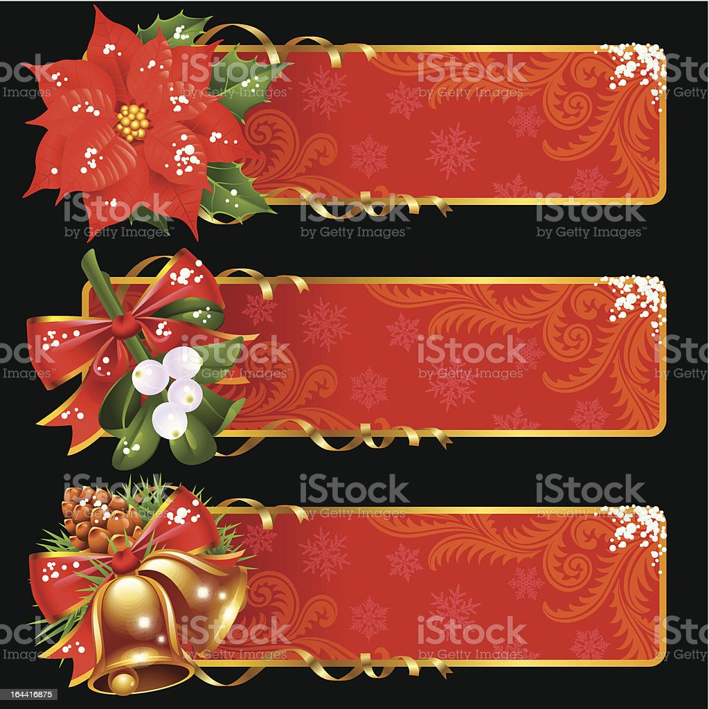 Christmas and New Year banners royalty-free christmas and new year banners stock vector art & more images of backgrounds