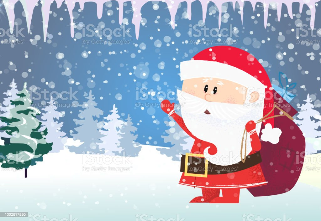 christmas and new year card template santa claus carrying gifts royalty free christmas and