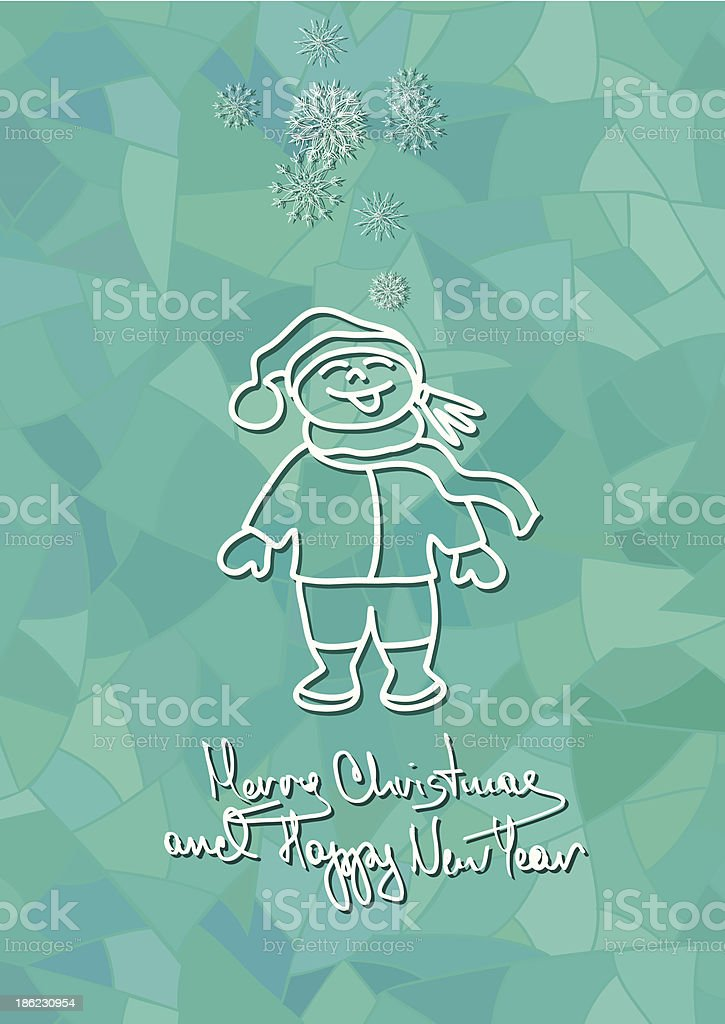 christmas and new year card with child royalty free christmas and new year card with