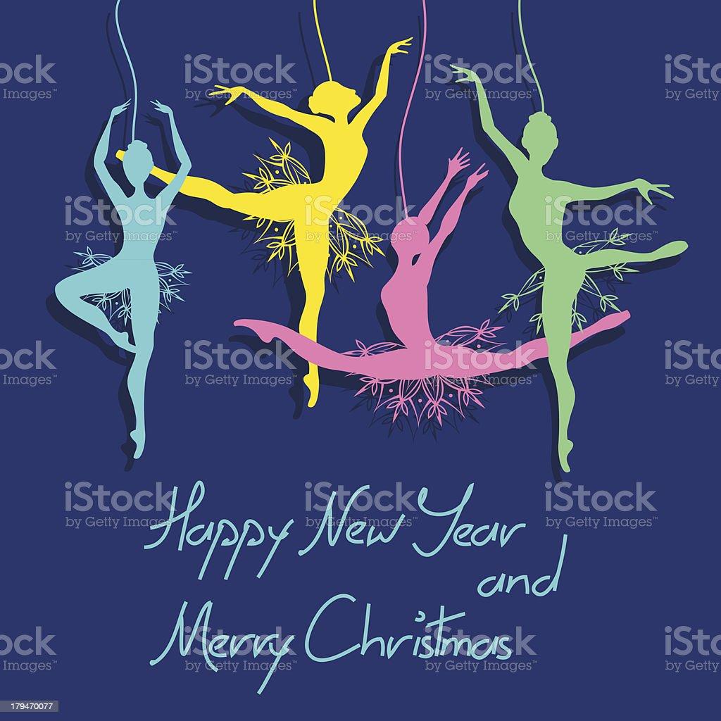 Новогодние открытки балерина