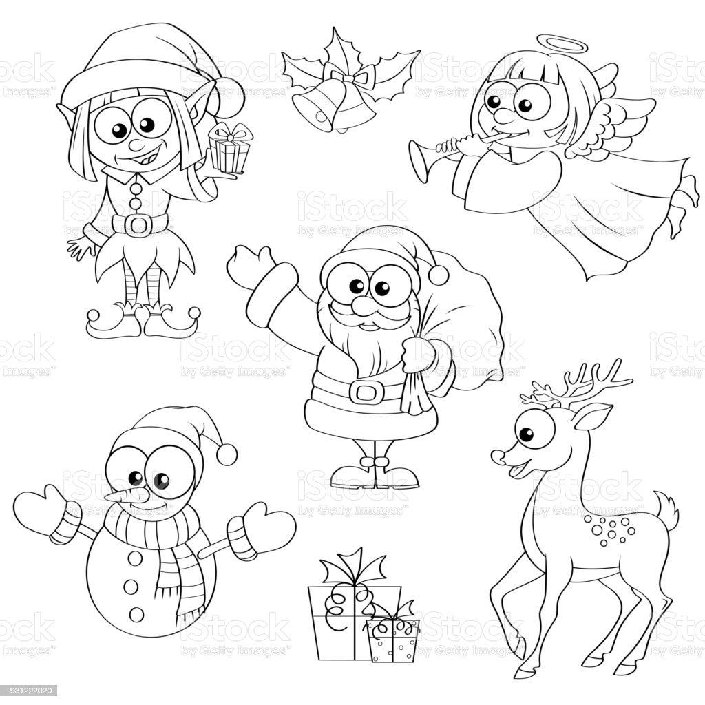 Noel Ve Yeni Yil Karakter Noel Baba Kardan Adam Elf Noel Melek Ren