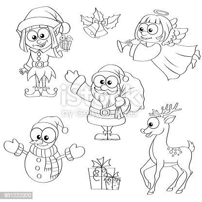 istock Color de adorables personajes de Navidad 455321643 istock ...