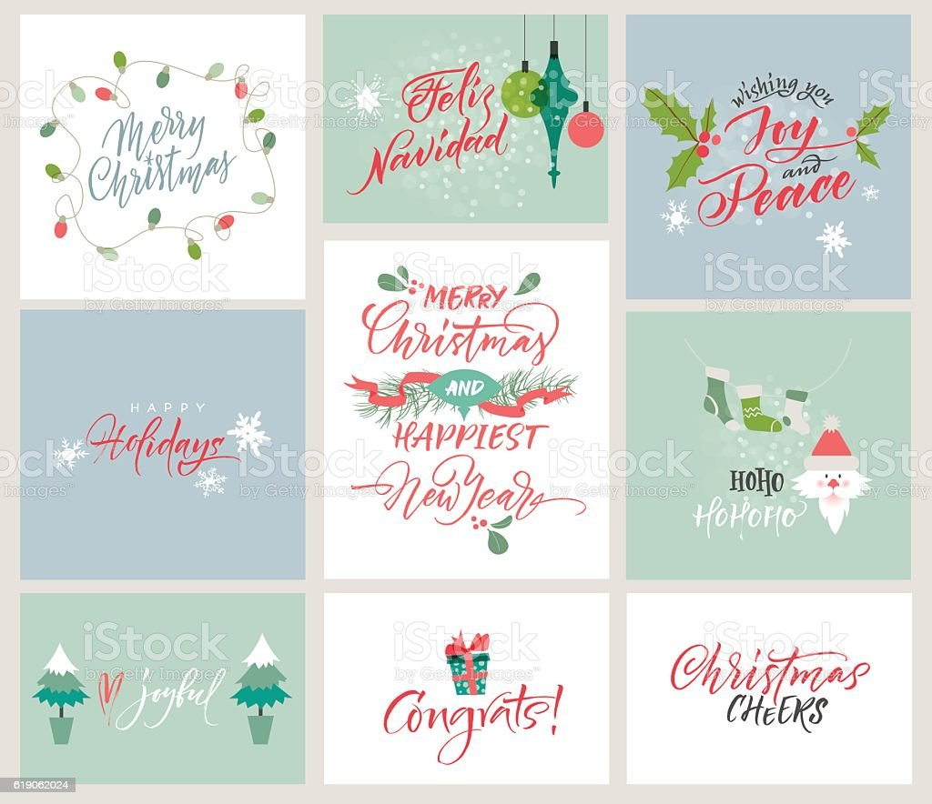 Christmas and new year congrats season greeting cards stock vector christmas and new year congrats season greeting cards royalty free christmas and new year kristyandbryce Image collections