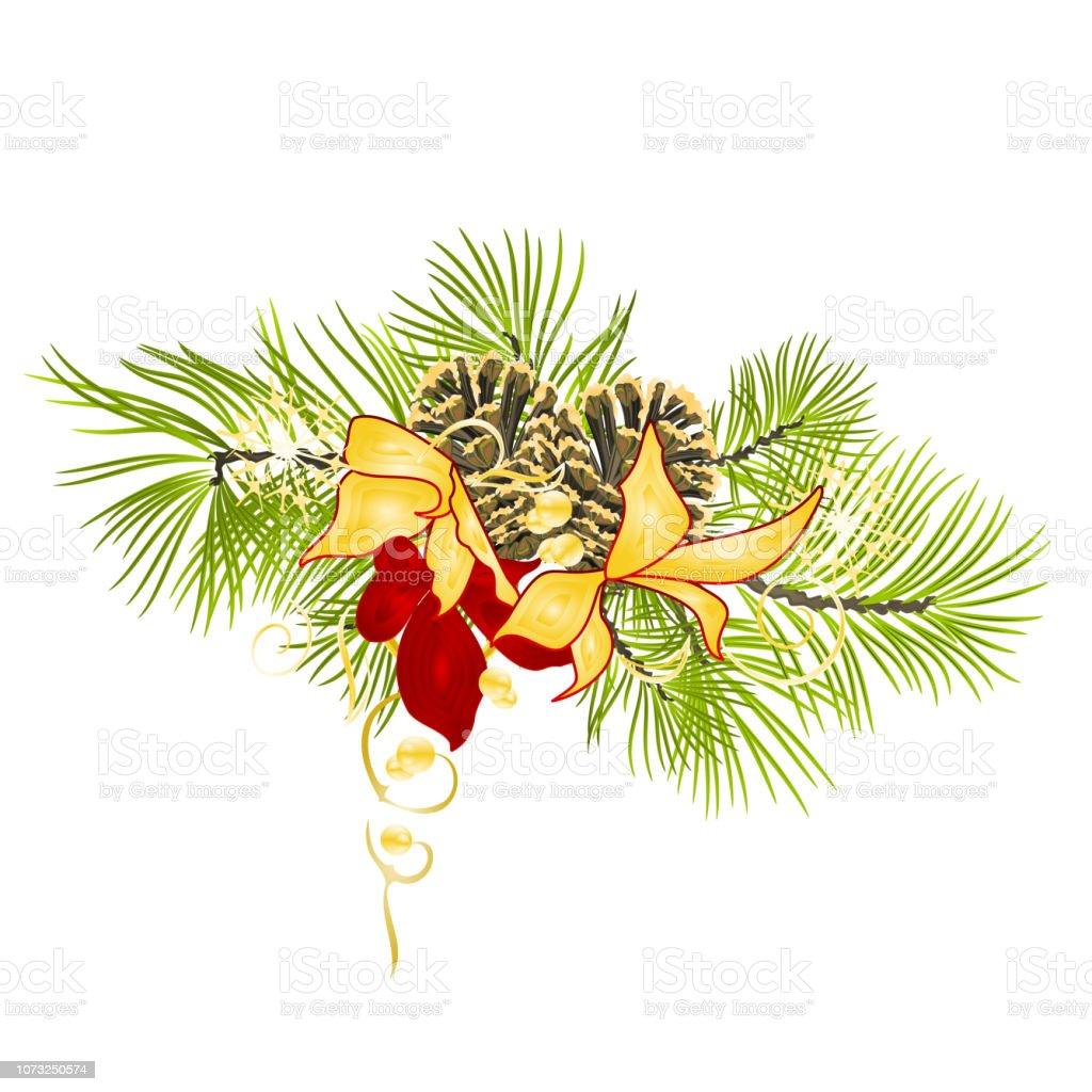Branche D Arbre Sapin De Noel noël et nouvel an décoration sapin une branche darbre avec