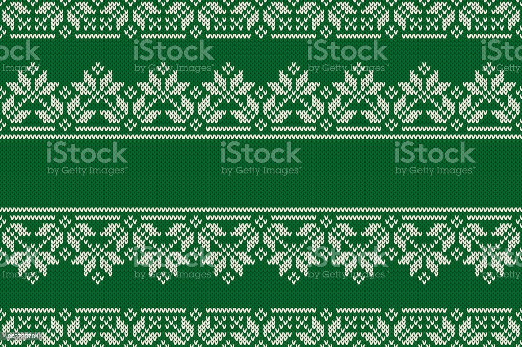Christmas and New Year Design Knitted Background with a Place for Text. Knitting Sweater Design. Wool Knit Texture Imitation vector art illustration