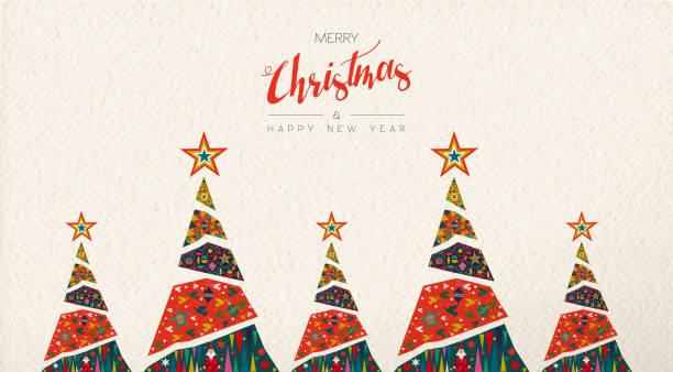 bildbanksillustrationer, clip art samt tecknat material och ikoner med jul och nyår folkkonst gratulationskort - christmas card