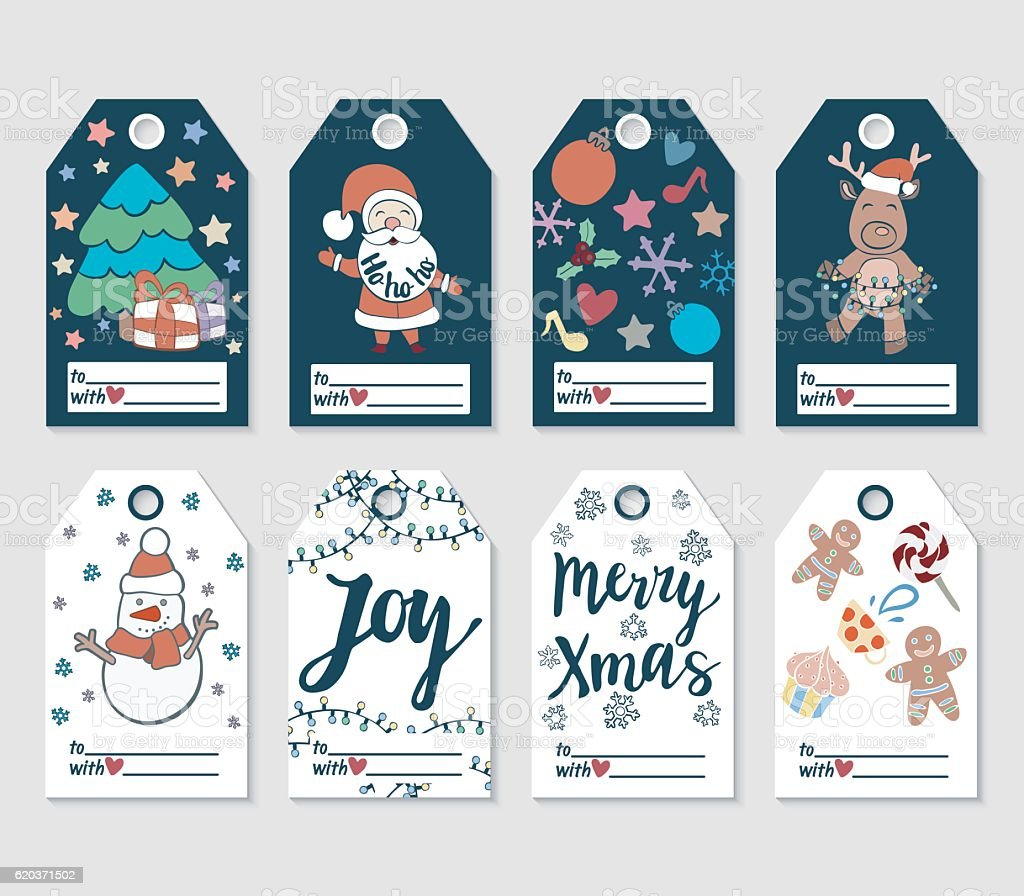 Christmas and New Year gift tags and cards. christmas and new year gift tags and cards - stockowe grafiki wektorowe i więcej obrazów bez ludzi royalty-free