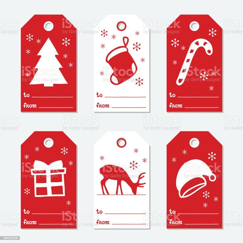 geschenkanh nger f r weihnachten und neujahr karten weihnachten set mit hand zeichnungselemente. Black Bedroom Furniture Sets. Home Design Ideas