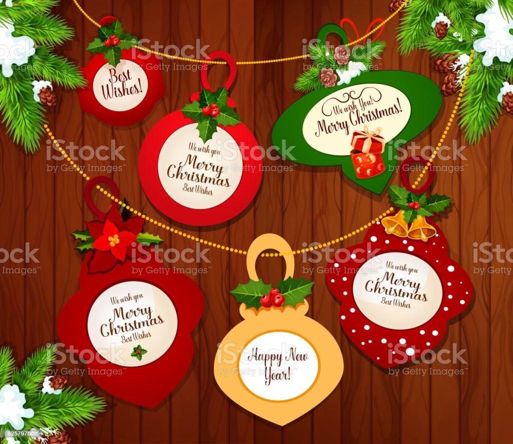 Christmas and new year greeting card design stock vector art more christmas and new year greeting card design royalty free christmas and new year greeting card m4hsunfo