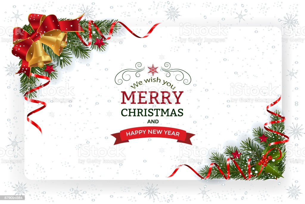 Christmas And New Year Greeting Card Stock Vector Art & More Images ...