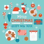Christmas and New Year holiday celebration with gift boxes