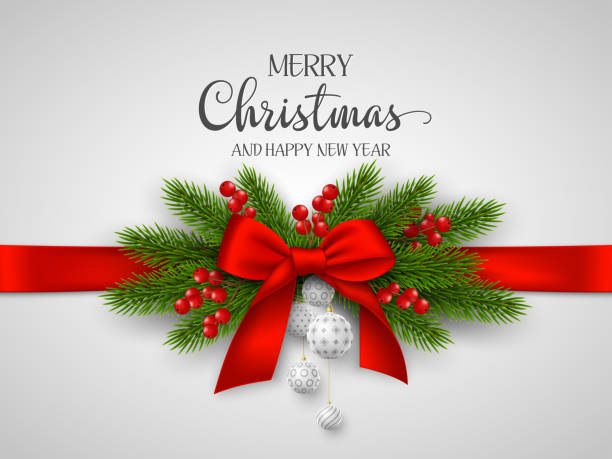 christmas and new year holiday design. - christmas decoration stock illustrations