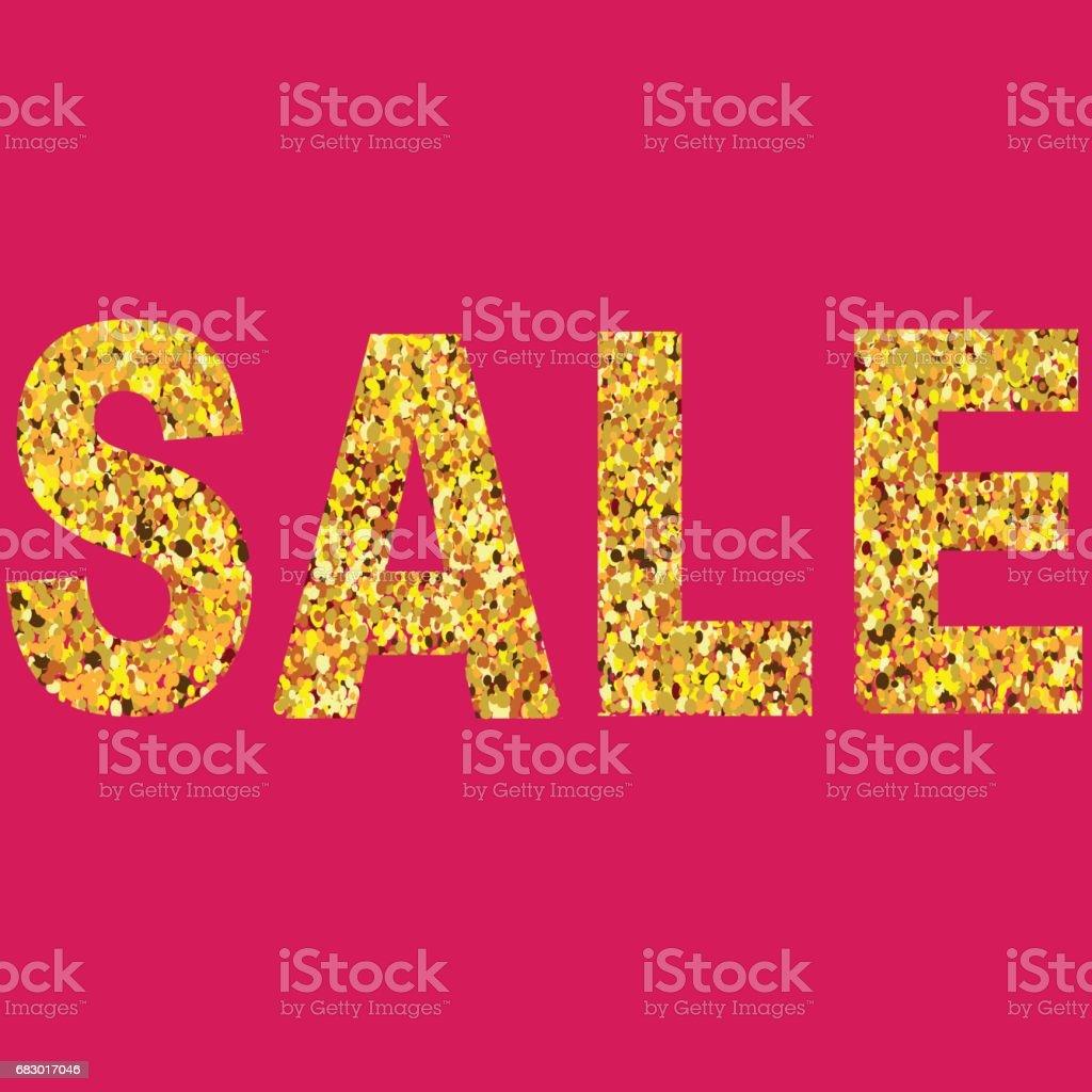 Christmas and New Year Holiday Sale Design with Gold Confetti Letters. christmas and new year holiday sale design with gold confetti letters - arte vetorial de stock e mais imagens de abstrato royalty-free