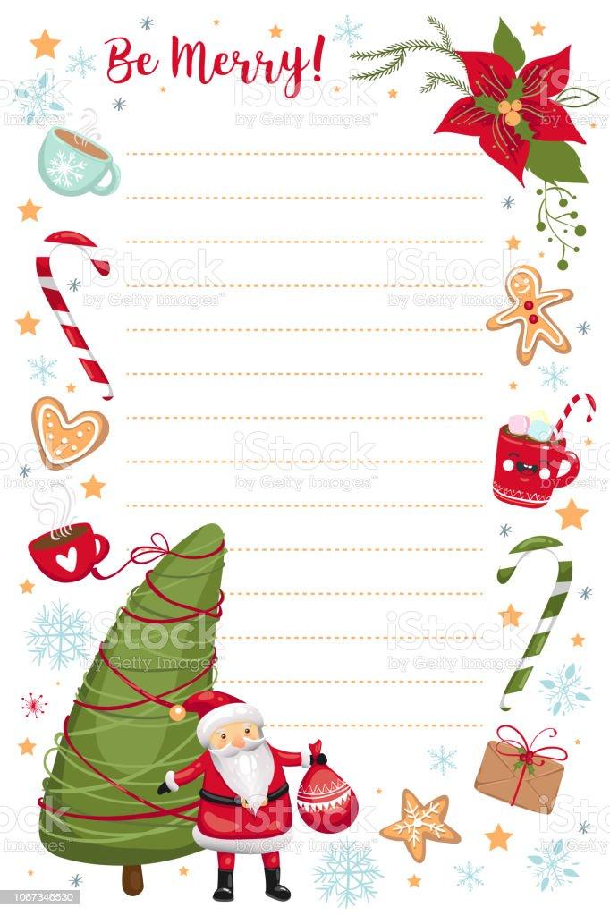 Christmas List Organizer.Christmas And New Year Planner Organizer Template Wish List