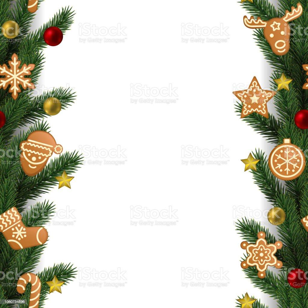 Noël Et Nouvel An Bordure Transparente Vecteurs Libres De