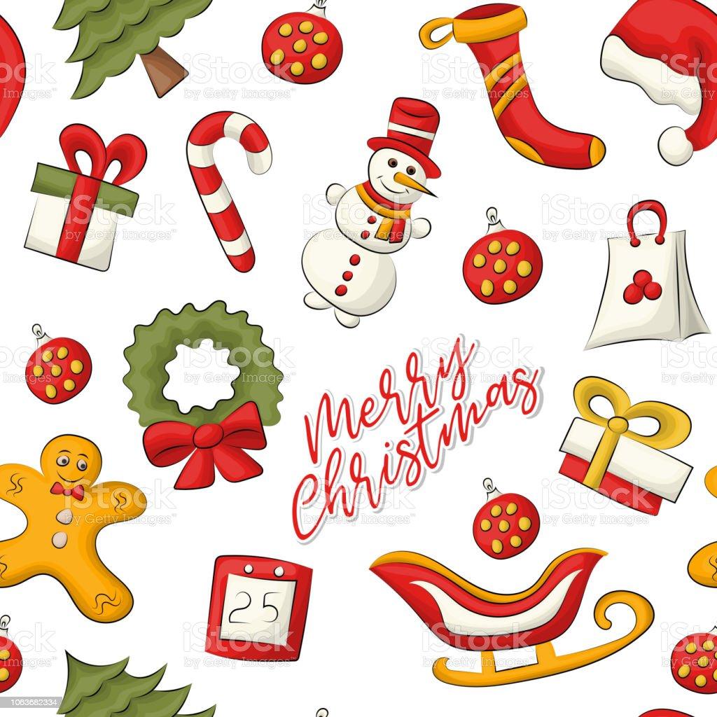 Vetores De Natal E Ano Novo Padrao Sem Emenda Uma Decoracao