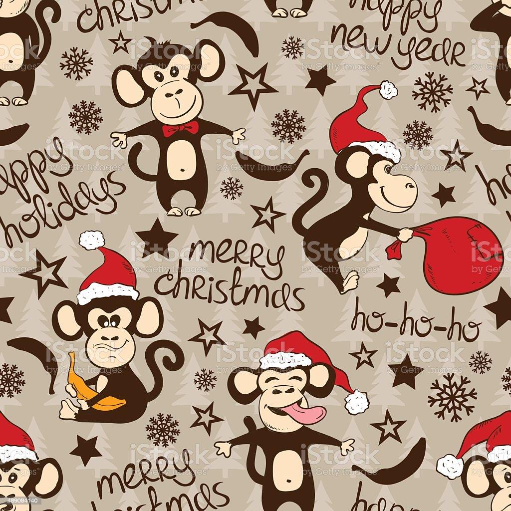Ilustración de Navidad Y Año Nuevo Patrón Sin Costuras Con ...
