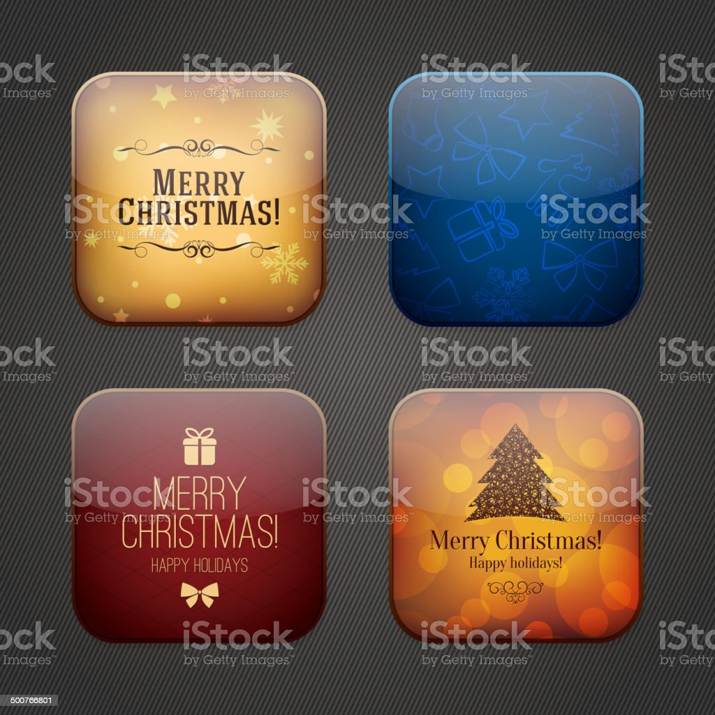 Christmas And New Year Symbols Stock Vector Art More Images Of