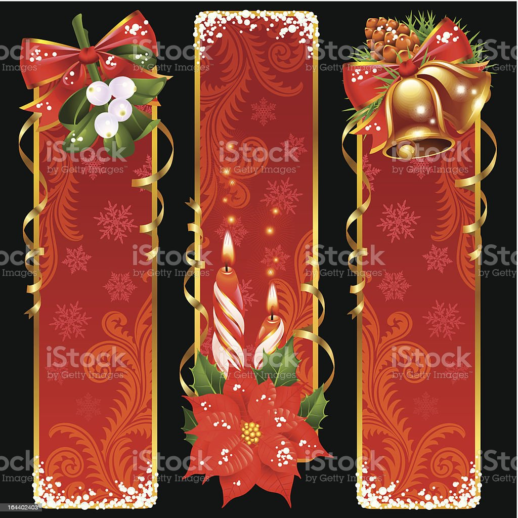 Christmas and New Year vertical banners royalty-free stock vector art