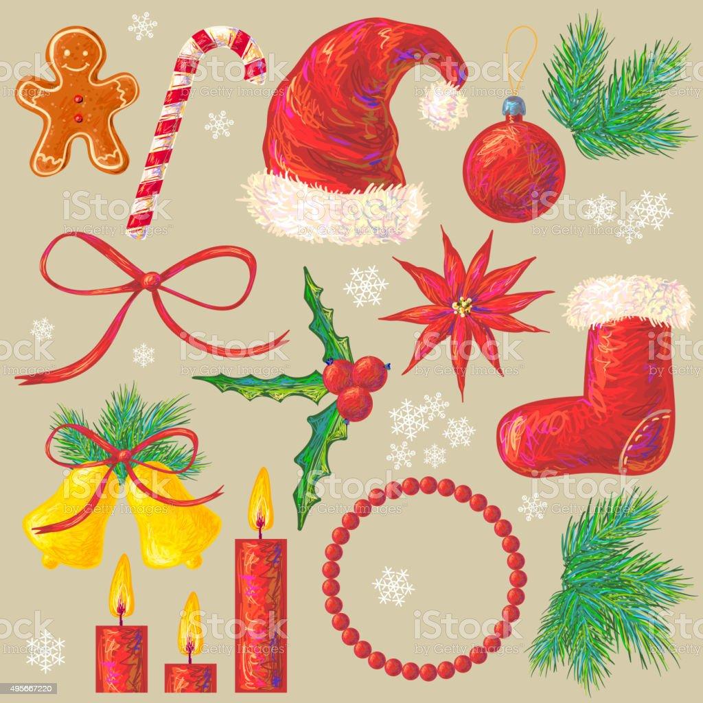 christmas and new year winter holiday symbols royalty free christmas and new year winter holiday - Christmas Holiday 2015