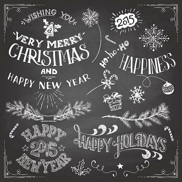 Free Chalkboard Christmas Vector Art