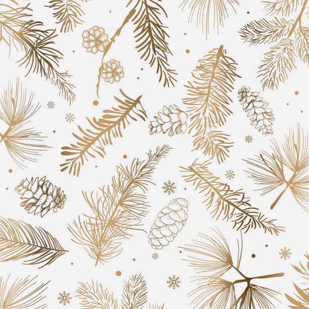 Christmas and winter decoration White background with winter decoration vector christmas patterns stock illustrations