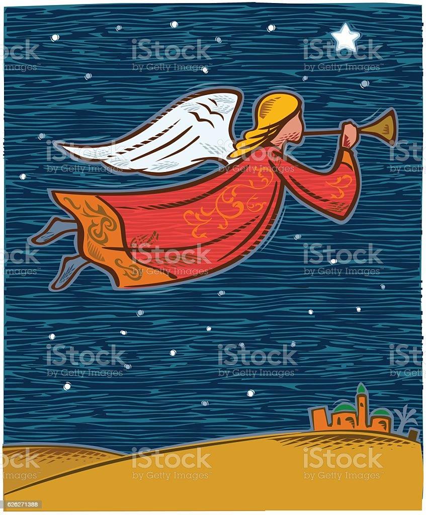 Navidad Angel  - ilustración de arte vectorial