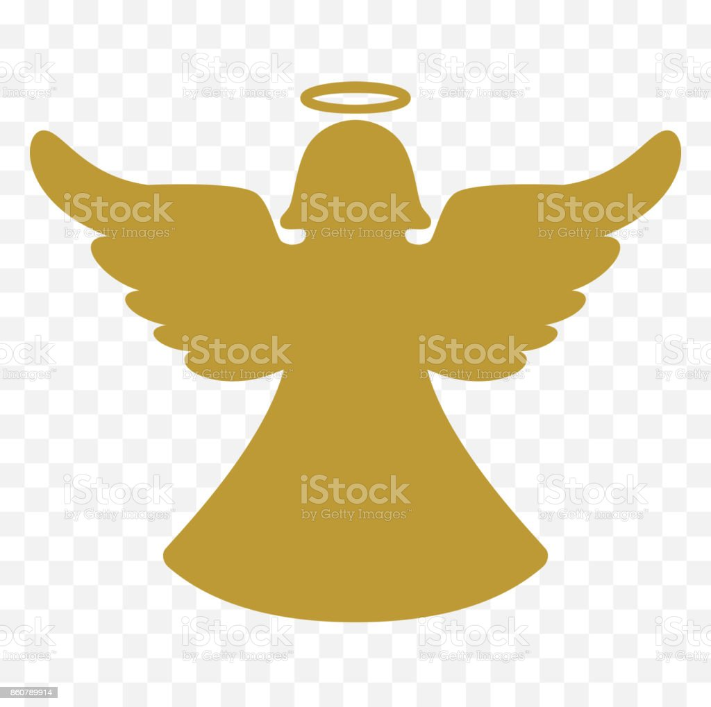 royalty free silhouette of angel wing logo clip art vector images rh istockphoto com  christmas angel clipart black and white free