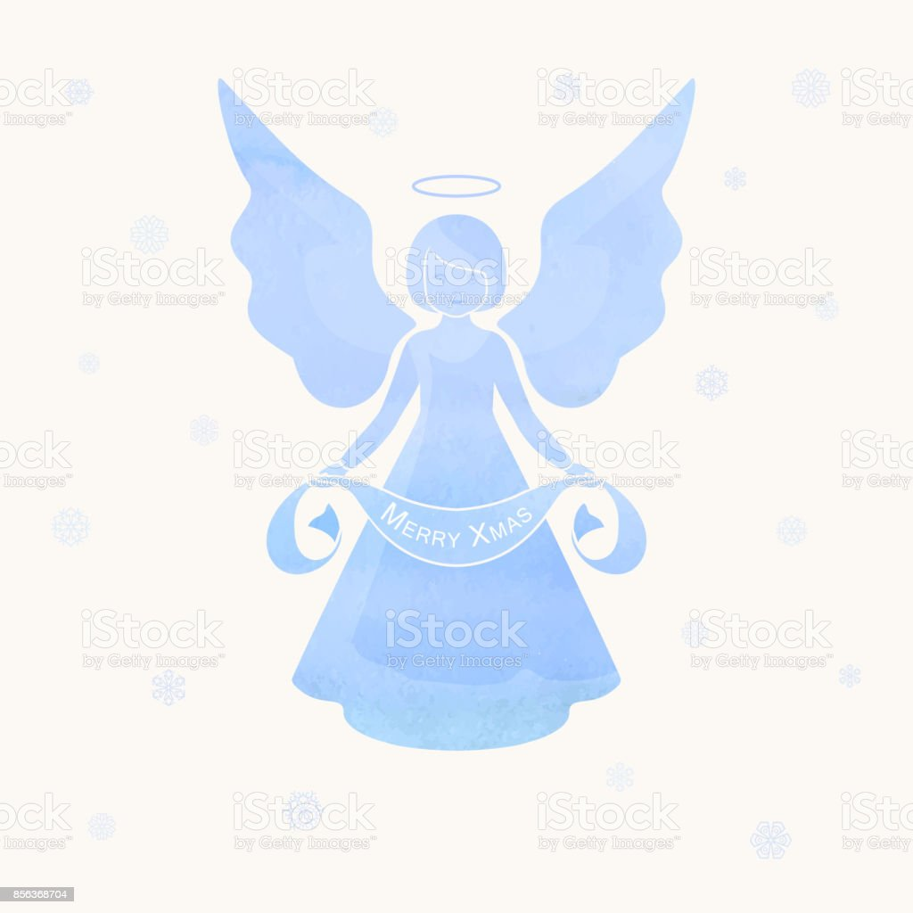 Christmas Angels And Snowflakes Stock Vector Art & More Images of ...