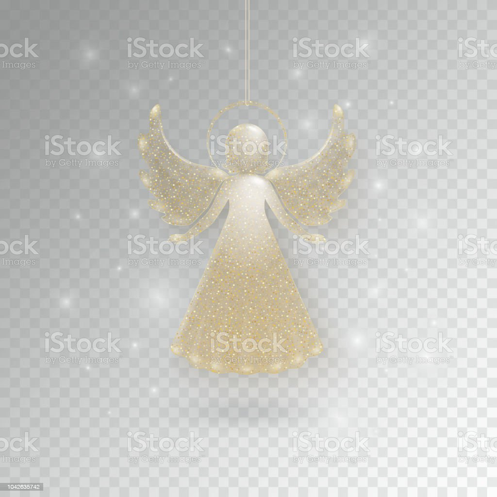 Christmas Angels With Wings And Nimbus Stock Vector Art & More ...