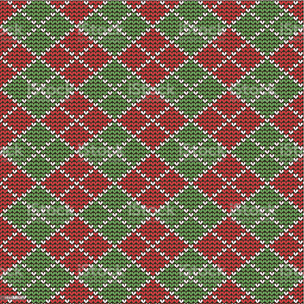 Christmas argyle background, seamless pattern included royalty-free stock vector art