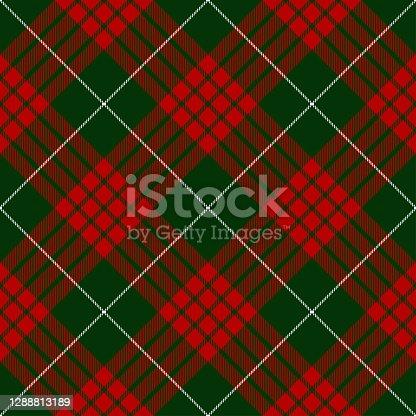 Christmas tartan plaid, Scottish seamless diagonal textile pattern background.