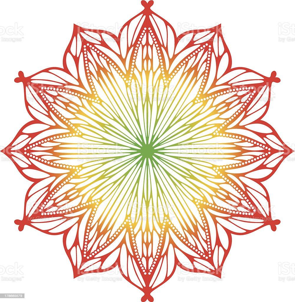 Christmas Art Nouveau Snowflake Stock Vector Art & More Images of ...