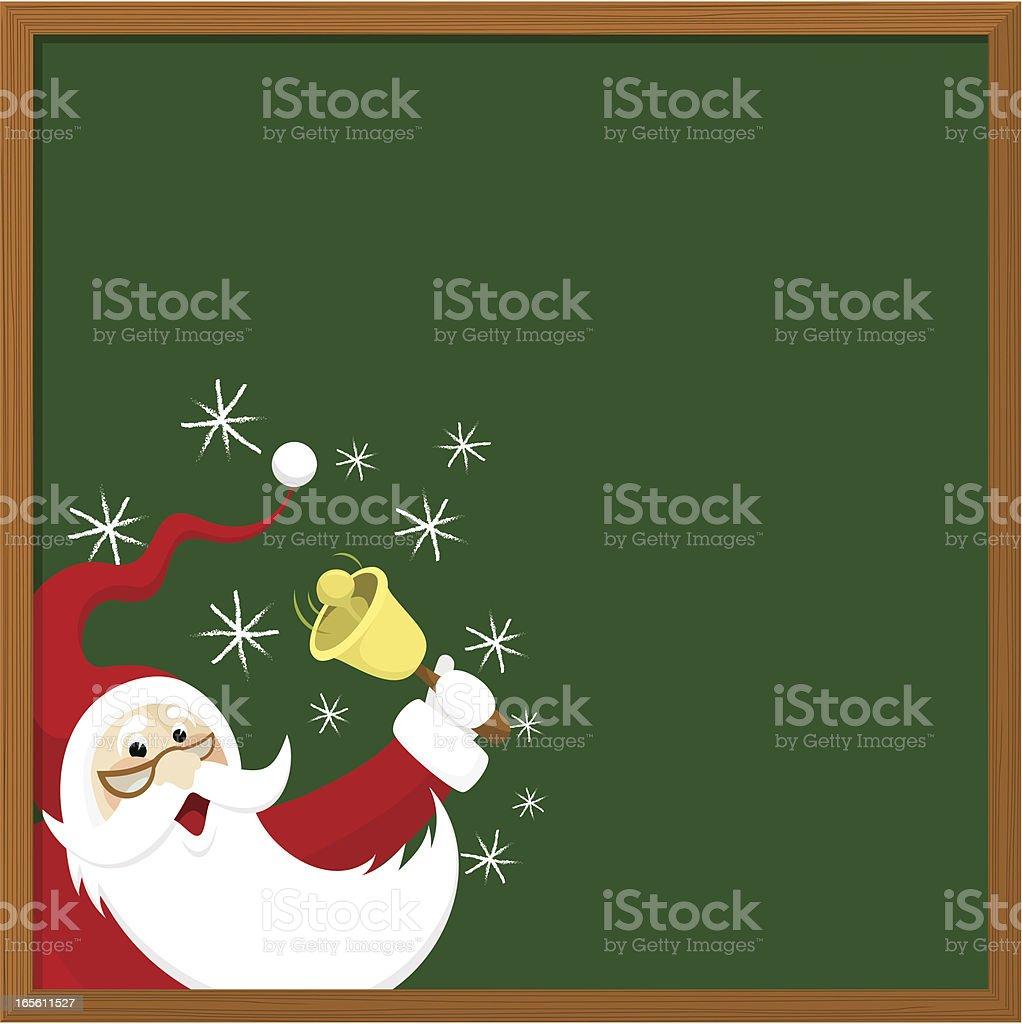 Christmas at the school vector art illustration