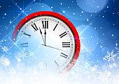 Christmas background - clock