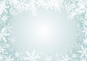 Christmas background concept design of white snowflake and pine leaves with copy space vector illustration