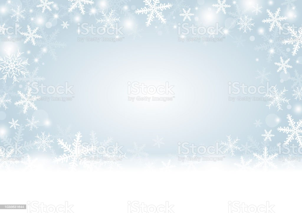 White Christmas Snow Background.Christmas Background Concept Design Of White Snowflake And Snow With Copy Space Vector Illustration Stock Illustration Download Image Now