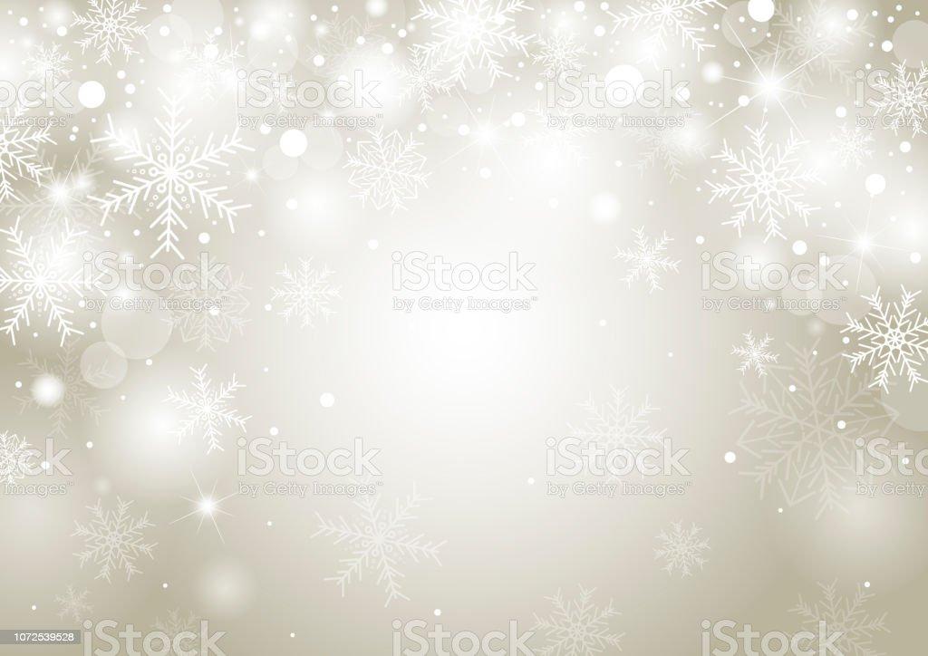 Weihnachten Hintergrund Konzeption des weißen Schneeflocke und Schnee mit Kopie Raum-Vektor-illustration - Lizenzfrei Abstrakt Vektorgrafik