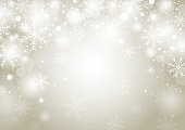 Christmas background concept design of white snowflake and snow with copy space vector illustration