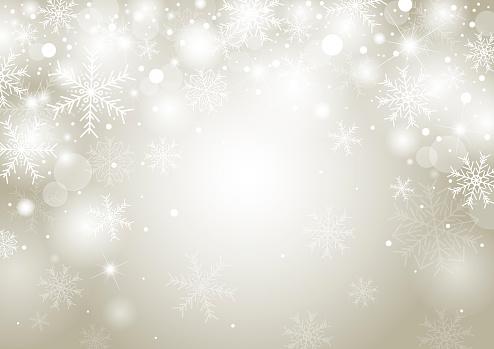 Ilustración de Diseño De Concepto De Fondo De Navidad De Blanco Copo De Nieve Y Nieve Con Ilustración De Vector De Espacio De Copia y más Vectores Libres de Derechos de Abstracto