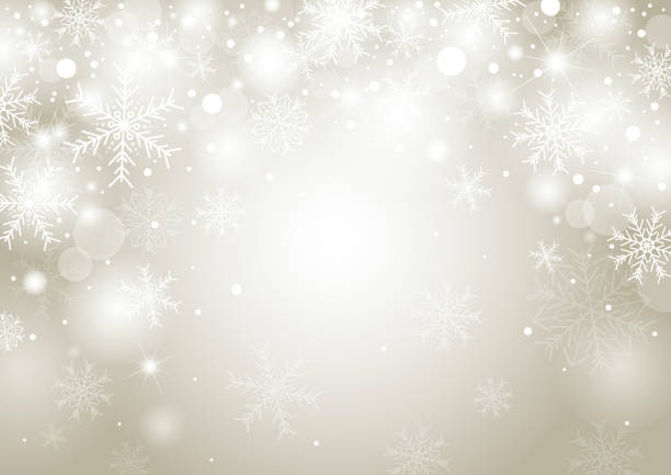 weihnachten hintergrund konzeption des weißen schneeflocke und schnee mit kopie raum-vektor-illustration - christmas background stock-grafiken, -clipart, -cartoons und -symbole