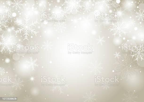 Weihnachten Hintergrund Konzeption Des Weißen Schneeflocke Und Schnee Mit Kopie Raumvektorillustration Stock Vektor Art und mehr Bilder von Abstrakt