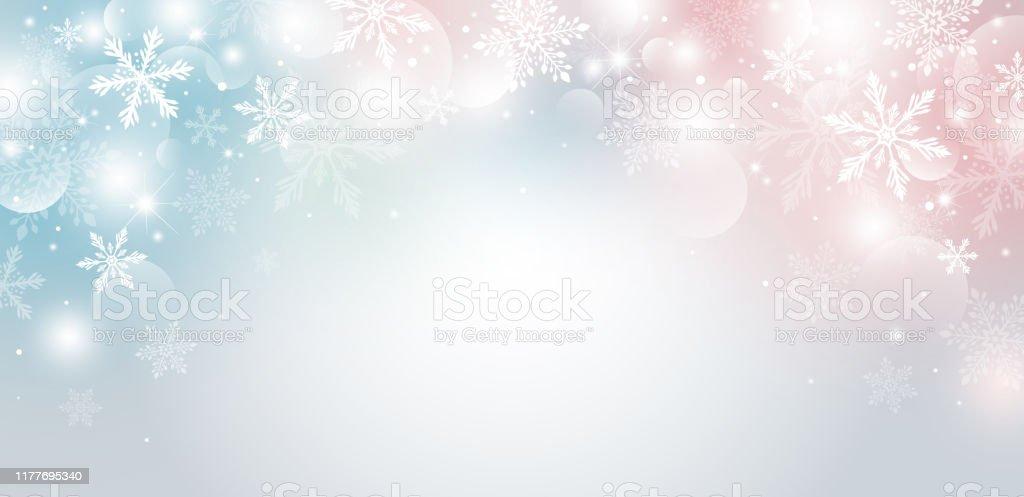 Weihnachten Hintergrund-Design von Schneeflocke und Bokeh mit Lichteffekt Vektor-Illustration - Lizenzfrei Abstrakt Vektorgrafik