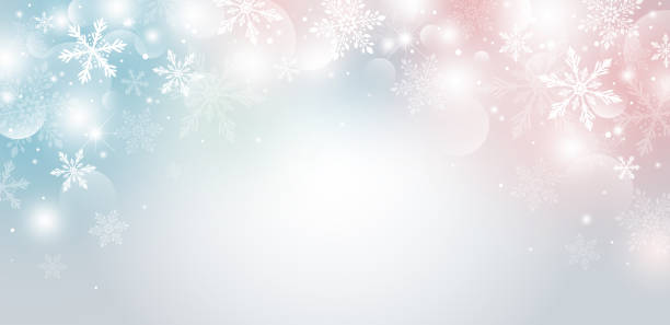 Christmas background design of snowflake and bokeh with light effect vector illustration Christmas background design of snowflake and bokeh with light effect vector illustration christmas backgrounds stock illustrations