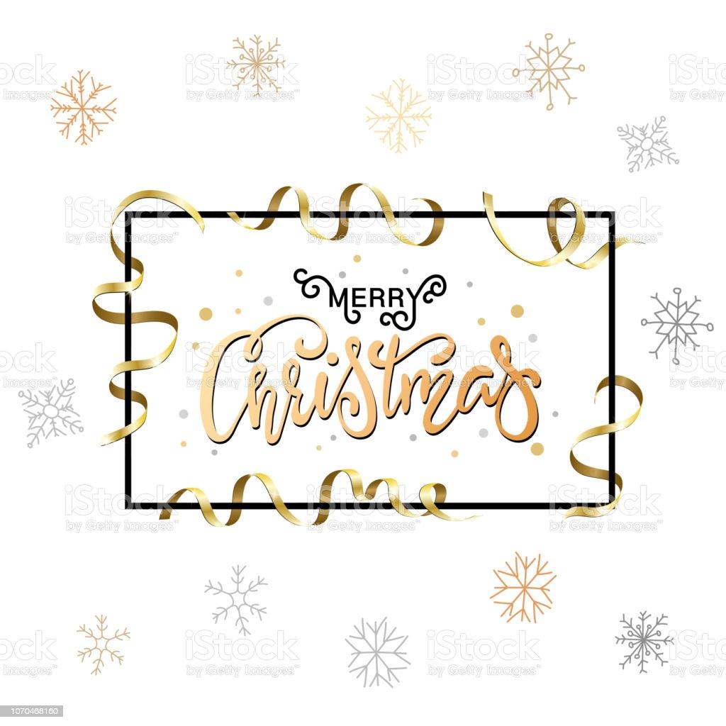 Schriftzug Frohe Weihnachten Beleuchtet.Weihnachten Hintergrund Fur Urlaub Grusskarte Gold