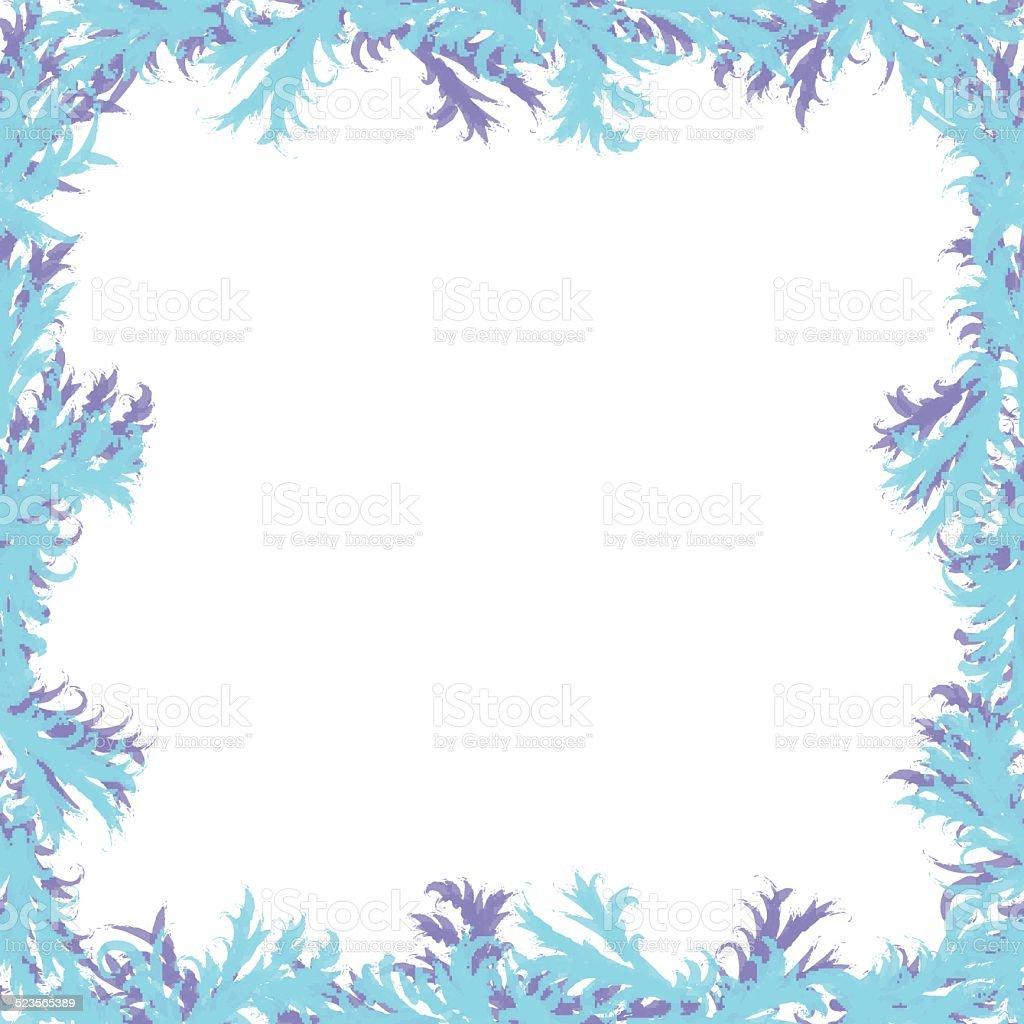 Weihnachten Hintergrund Frosty Muster Rahmen Mit Weiß Stock Vektor ...